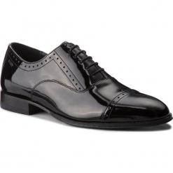 Półbuty JOOP! - Kleitos 4140004180 Black 900. Czarne buty wizytowe męskie JOOP!, z lakierowanej skóry. W wyprzedaży za 709,00 zł.