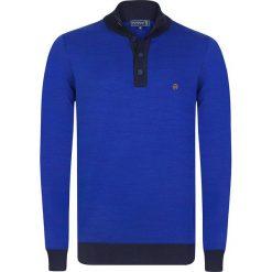 """Golfy męskie: Sweter """"Berwick"""" w kolorze niebieskim"""