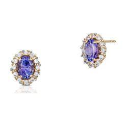 Biżuteria i zegarki damskie: Kolczyki - , Tanzanit,...