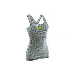 Koszulka Nike damska. Żółte topy sportowe damskie marki Nike, l. W wyprzedaży za 69,99 zł.