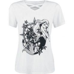 Ariel - Mała Syrenka Nautical Koszulka damska biały. Białe bluzki z odkrytymi ramionami Ariel - Mała Syrenka, xl, z nadrukiem. Za 79,90 zł.