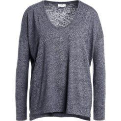 Bluzki asymetryczne: CLOSED TOPSOFT VINTAGE Bluzka z długim rękawem dark grey melange