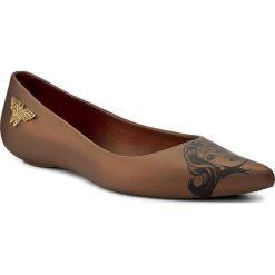 Baleriny damskie lakierowane: Baleriny MELISSA – Glam + Wonder Woman 32220 Bronze 06602