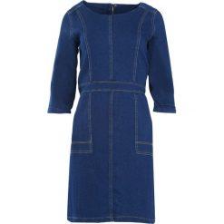 Granatowa Sukienka Love Train. Niebieskie sukienki marki Born2be, z jeansu. Za 49,99 zł.