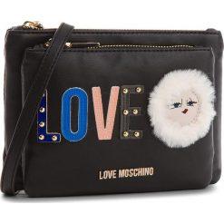 Torebka LOVE MOSCHINO - JC4274PP06KJ0000  Nero. Czarne listonoszki damskie Love Moschino, ze skóry ekologicznej. W wyprzedaży za 409,00 zł.