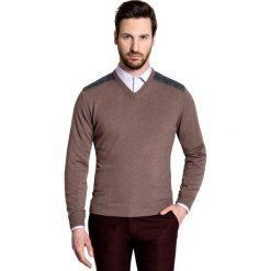 Sweter FABRIZIO K SWK000068. Brązowe swetry klasyczne męskie Giacomo Conti, m, z dzianiny. Za 199,00 zł.