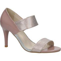 Różowe sandały szpilki Jezzi SA124-3. Czerwone sandały damskie marki Blink, z materiału. Za 98,99 zł.