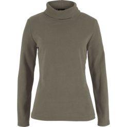 Bluza z polaru z golfem bonprix ciemnooliwkowy. Zielone bluzy polarowe bonprix. Za 49,99 zł.