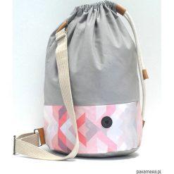 Torba Baggy Grey. Szare torebki klasyczne damskie marki Pakamera, w kolorowe wzory, z bawełny, małe. Za 159,00 zł.