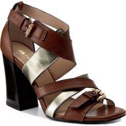 Sandały damskie: Sandały SOLO FEMME - 60801-01-G50/G54-07-00 Brąz/Złoty