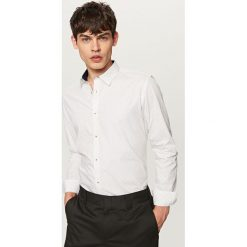 Koszula z podwijanymi rękawami slim fit - Jasny szar. Szare koszule męskie slim marki Reserved, l. W wyprzedaży za 59,99 zł.