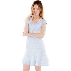 Sukienki hiszpanki: Sukienka w kolorze jasnoniebiesko-srebrnym