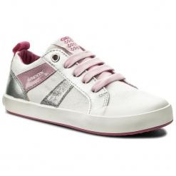 Geox Tenisówki Dziewczęce Gisli 31 Białe. Białe buty sportowe dziewczęce Geox, na sznurówki. W wyprzedaży za 119,00 zł.