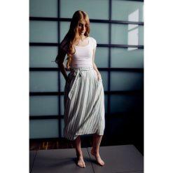Długie spódnice: Spódnica Idalia w zielono-złote paski 32