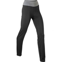Spodnie sportowe ze stretchem, długie, Level 1 bonprix czarny. Czarne spodnie sportowe damskie marki KIPSTA, l, z bawełny, na fitness i siłownię. Za 79,99 zł.