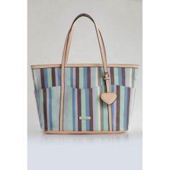 Torba w kolorowe prążki. Szare torebki klasyczne damskie Monnari, w kolorowe wzory. Za 99,60 zł.