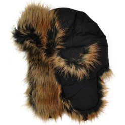 Czapka damska Uszanka Alaska czarno-brązowa. Brązowe czapki zimowe damskie Art of Polo. Za 42,47 zł.