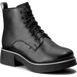 Botki LASOCKI - ATA-03 Czarny. Czarne buty zimowe damskie Lasocki, ze skóry, na obcasie. Za 249,99 zł.