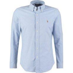 Polo Ralph Lauren SLIM FIT Koszula blue. Szare koszule męskie slim marki Polo Ralph Lauren, l, z bawełny, button down, z długim rękawem. Za 439,00 zł.