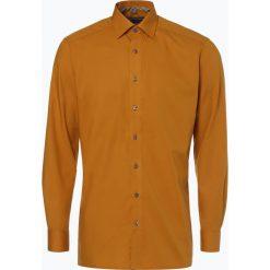 Koszule męskie na spinki: Finshley & Harding - Koszula męska łatwa w prasowaniu, żółty