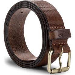 Pasek Męski WRANGLER - Roller Belt W0B40U181 100 Cognac. Brązowe paski męskie Wrangler, w paski, ze skóry. W wyprzedaży za 149,00 zł.