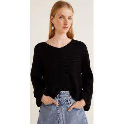 Mango - Sweter Fold. Czarne swetry oversize damskie Mango, l, z dzianiny. Za 119,90 zł.
