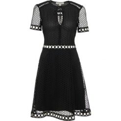 MICHAEL Michael Kors LACE COMBO DRESS Sukienka koktajlowa black. Czarne sukienki koktajlowe marki MICHAEL Michael Kors, z materiału. W wyprzedaży za 805,35 zł.