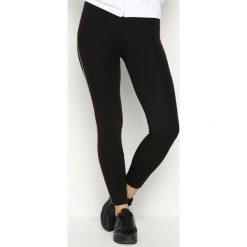 Spodnie damskie: Czarne Legginsy Fallen Apart