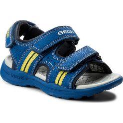 Sandały GEOX - J Vaniett B. B J825XB 015CE C4344 S Royal/Lime. Niebieskie sandały męskie skórzane Geox. W wyprzedaży za 159,00 zł.