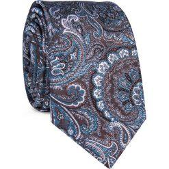 Krawat KWWR000350. Szare krawaty męskie marki Reserved, w paski. Za 129,00 zł.