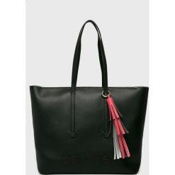 Calvin Klein - Torebka Pop. Szare shopper bag damskie marki Calvin Klein, z materiału, do ręki, duże. Za 629,90 zł.