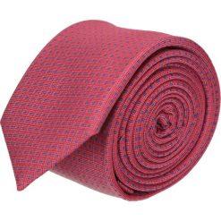 Krawat platinum czerwony classic 207. Czerwone krawaty męskie Recman, z tkaniny, biznesowe. Za 49,00 zł.