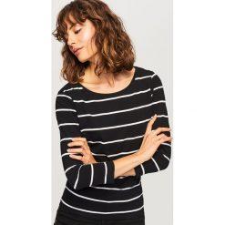 T-shirt z bawełny organicznej - Wielobarwn. Brązowe t-shirty damskie Reserved, l, z bawełny. Za 24,99 zł.