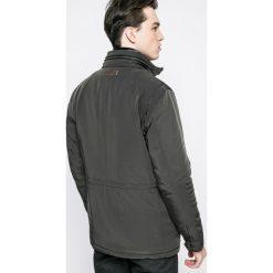 Trussardi Jeans - Kurtka. Czarne kurtki męskie jeansowe marki Trussardi Jeans, s, z kapturem. W wyprzedaży za 1199,00 zł.
