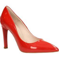 Czółenka ANET. Czerwone buty ślubne damskie marki Gino Rossi, z lakierowanej skóry, na wysokim obcasie, na szpilce. Za 199,90 zł.