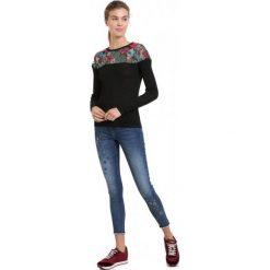 Desigual Sweter Damski Tulipan M, Czarny. Czarne swetry klasyczne damskie Desigual, m, z materiału. Za 499,00 zł.
