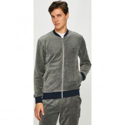 Emporio Armani - Bluza. Szare bluzy męskie rozpinane marki Emporio Armani, l, z nadrukiem, z bawełny, z okrągłym kołnierzem. Za 549,90 zł.
