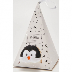Świąteczne skarpetki z pingwinem - Wielobarwn. Szare skarpetki damskie marki House. Za 25,99 zł.