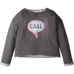 Bluzy dziewczęce rozpinane: Bluza z dwustronnymi cekinami bonprix czarny melanż