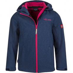 """Kurtka softshellowa """"Oppland"""" w kolorze granatowo-różowym. Niebieskie kurtki dziewczęce marki Trollkids, z materiału. W wyprzedaży za 125,95 zł."""