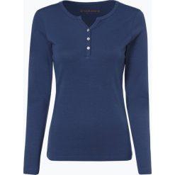 Brookshire - Damska koszulka z długim rękawem, niebieski. Zielone t-shirty damskie marki bonprix, z kołnierzem typu henley. Za 99,95 zł.