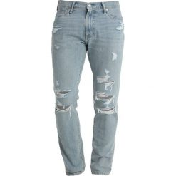Abercrombie & Fitch Jeansy Slim Fit medium destroy. Niebieskie rurki męskie Abercrombie & Fitch. Za 409,00 zł.