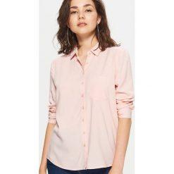 Gładka koszula - Różowy. Czerwone koszule wiązane damskie Cropp, l. Za 49,99 zł.