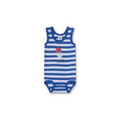 Body niemowlęce: SANETTA Boys Body dziecięce blue/white