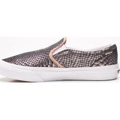 Vans - Tenisówki dziecięce. Szare buty sportowe dziewczęce marki Vans, z materiału, z okrągłym noskiem. W wyprzedaży za 159,90 zł.