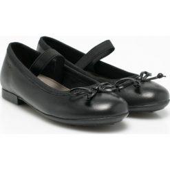 Geox - Baleriny dziecięce. Czarne baleriny dziewczęce Geox, z materiału. W wyprzedaży za 199,90 zł.