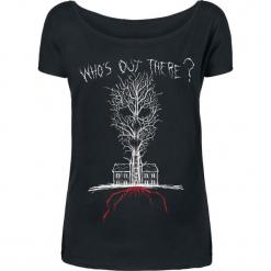 American Horror Story Who's Out There Koszulka damska czarny. Czarne bluzki nietoperze American Horror Story, l, z nadrukiem, z dekoltem w łódkę. Za 62,90 zł.