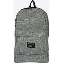 Jack & Jones - Plecak. Czarne plecaki męskie marki Jack & Jones, l, z bawełny, z okrągłym kołnierzem. Za 149,90 zł.