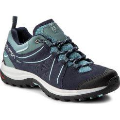 Trekkingi SALOMON - Ellipse 2 Ltr W 398540 Artic/Navy Blazer/Eggshell Blue. Czarne buty trekkingowe damskie marki Salomon, z gore-texu, na sznurówki, outdoorowe, gore-tex. W wyprzedaży za 339,00 zł.