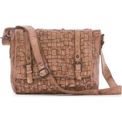 Torebki klasyczne damskie: Skórzana torebka w kolorze szarobrązowym – 27 x 23 x 11 cm